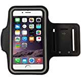 iPhone 6S Plus brazalete (5.5inch), Koly–Running Deportes a prueba de sudor brazalete gimnasio iphone 6s + brazo banda Funda, negro, iPhone 6/6S Plus