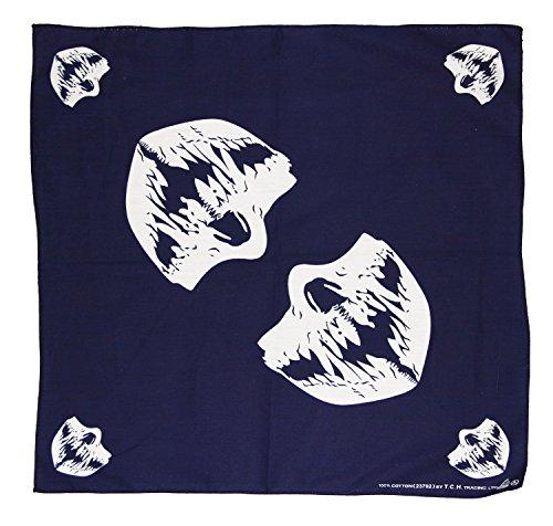 Preisvergleich Produktbild Dunkelblau Blau Totenkopf Maske Mundtuch Kopftuch Bandana Halstuch