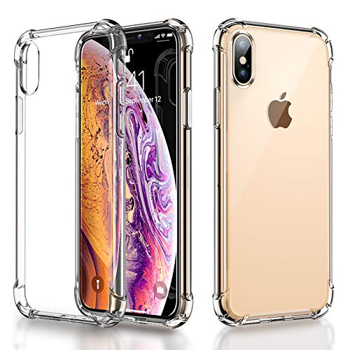 AINOPE Liquid Crystal,iPhone XS Max hülle,Transparent TPU [Ultra Hybrid][Airbag] Silikon Handyhülle Ultra dünn Schutzhülle Flex Case für iPhone XS Max (6.5 Zoll) 2018 - Crystal Clear