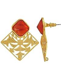 The Jewelbox Stone Filigree Stud Earring For Women