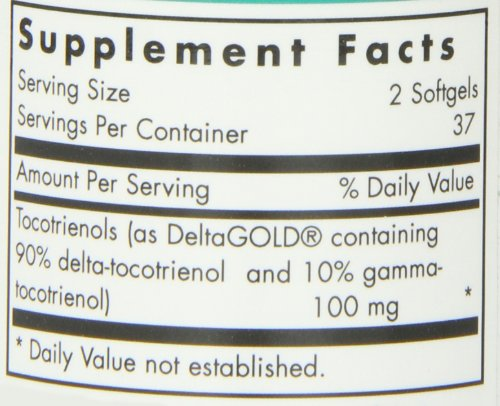 Nutricology/ Allergy Research Group Delta Fraction Tocotrienols, 75 Vcaps, 50 Mg