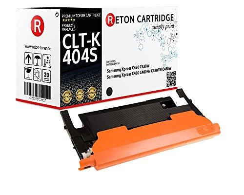 Preisvergleich Produktbild Original Reton Toner | 50% höhere Druckleistung | als Ersatz für CLT-K404S Schwarz für Samsung Xpress C430 C480FN C430w C480FW C480W