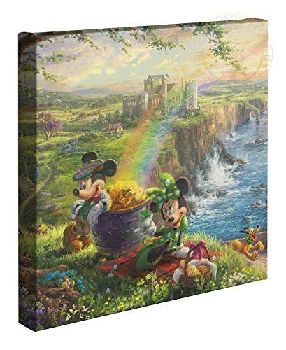 Thomas Kinkade Studios Disney Mickey und Minnie in Irland 14x 14Galerie Verpackt Leinwand