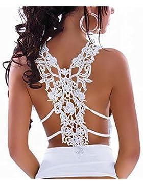 Tongshi Sin espalda espagueti atractivo de las mujeres del cordón de la correa del chaleco sin mangas de la blusa...