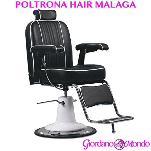 Sessel Barbier mit Fußstütze A Hydraulikpumpe Stuhl Malaga Profi