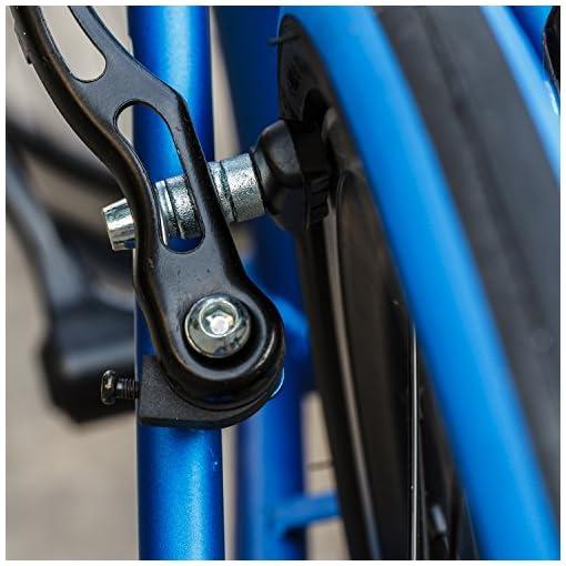 Hotop Complete Bicicletta V Brake Pad Set Bicicletta Blocco Freno V Set 70 mm, 2 Coppie