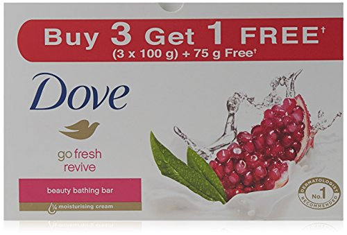 Dove Revive Beauty Bathing Bar, 3x100g with Free Revive Beauty Bathing Bar, 75g