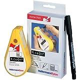 Distributeur avec 150 étiquettes blanc 12.1 mm Type 100, vinyle HellermannTyton 550-14010