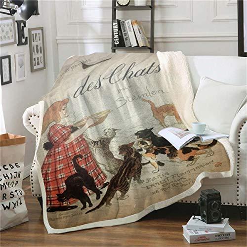 HAOTTP Kuscheldecke Ist Super Weich Gril Werfen Poster Adul Tier Bettwäsche Plüsch Büro Quilts Marke Mode 70X100Cm -