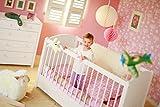BioKinder 22165 Luca Babybett Kinderbett aus Massivholz Kiefer weiß lasiert 70 x 140 cm