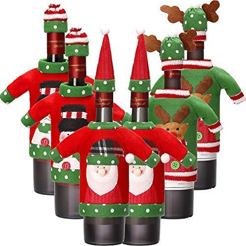 6 Juegos Funda Botella Vino Navidad Cubierta Botella