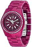 Edc By Esprit - EE900172012 - Disco Glam - Montre Femme - Quartz Analogique - Cadran Rouge - Bracelet Plastique Violet