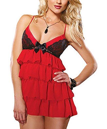 neuf-pour-femmes-2-pieces-en-maille-rouge-et-noir-en-dentelle-volants-lingerie-babydoll-sous-vetemen