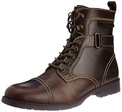 Redtape Men's Brown Leather Boots - 11 UK