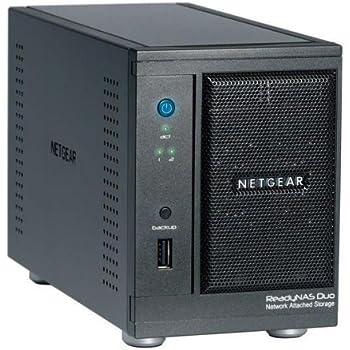 NETGEAR RND2000-100ISS ReadyNAS Duo NAS-System ohne Festplatten (2-Bay, SATA II, USB, Ethernet) schwarz