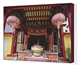 Canvas Print of Interior of Chinese temple in Sibu