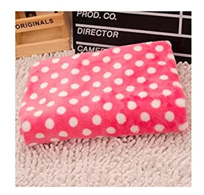 Domire Polka Dot Soft Fleece Pet Dog Cat Mat Blanket Quilt Pad Cushion - cheap UK light shop.