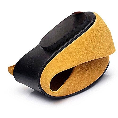 fereshte ,  Damen Durchgängies Plateau Sandalen mit Keilabsatz Gelb