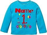 Die besten Was für Kinder wünschen Geburtstags-Geschenk für Jungen - EZYshirt Geburtstag Wunschname Wunschnummer Baby T-Shirt Longsleeve Bio Bewertungen