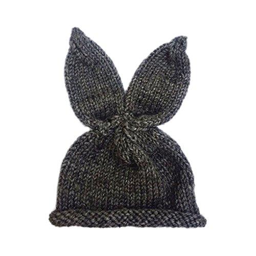 0-6 Monate Neugeborenes Baby-Kaninchen-Hüte Foto Props Häschen-Ohr-Häkelarbeitknit Kappebeanie Hat Infant Outfit Kostüm Zubehör Mengonee