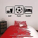 zqyjhkou Stickers Football Manger Dormir Jouer Vinyle Mur Autocollant Décalque...