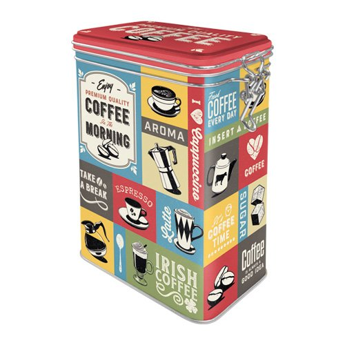 Nostalgic-Art 31115 Coffee Collage | Retro Aromadose| Blech-Dose | Kaffee-Dose | Aromadeckel |...