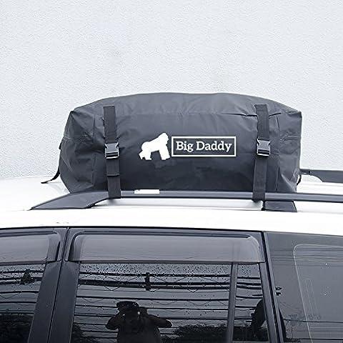Big Daddy Sac de transport pour toit de voiture en matériau imperméable et très résistant, idéal pour les vacances et longs voyages - avec sac de rangement inclus