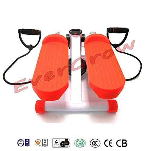 Aerobic Fitness Step Air Stair Climber Stepper Exercise Machine Equipment Orange by EverGrow