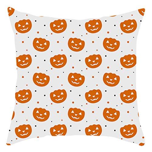 Lomelomme Halloween Kissenbezug mit Aufdruck Kürbis Kissenbezug Taille Throw Kissenbezug Sofa Home Decor Sofakissen
