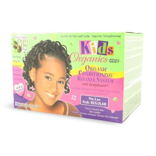 Africa's Best Kids Organics No-Lye Organic Conditioning Relaxer System with Scalp Guard for Fine to Normal Hair, Kids Regular Kids, Infant, Child, Baby Products by Africa's Best