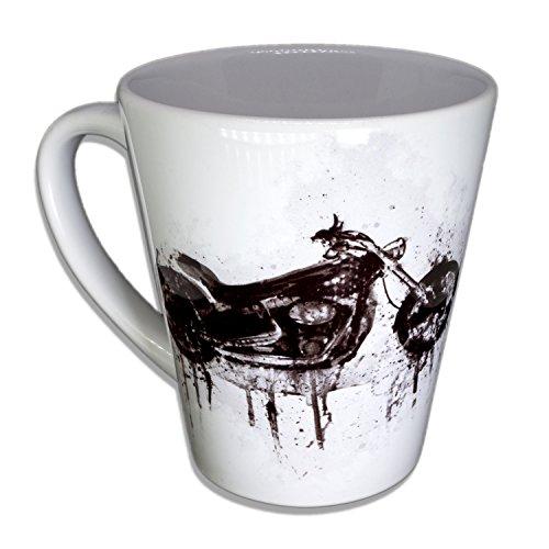 Harley - Handarbeit Designer Tasse aus brillanten Porzellan Unikat - Tasse, Becher, Kaffeetasse,...