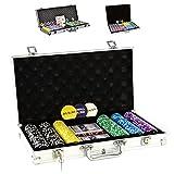 SONLEX Pokerkoffer mit 300 500 1000 Laser Pokerchips 12 g
