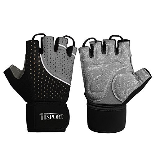 iisport Fitness Handschuhe Herren traininghandschuhe Sporthandschuhe für Fitnessgerät Krafttraining Gewichtheben und Bodybuilding