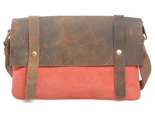 Everdoss Femmes sac à main en toile sac à bandoulière de style rétro sac de messager sac de loisirs