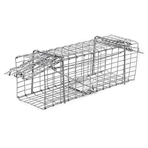 OSE Cage à nuisibles Double entrée Petit modèle Gris 33 cm