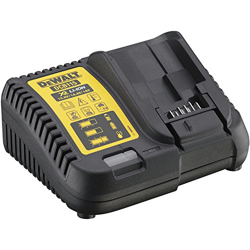 Galleria fotografica DeWALT DCB115-QW Indoor Black,Yellow battery charger - battery chargers (10.5 - 18, 5 Ah, 4 A, Black, Yellow, Indoor battery charger, Lithium-Ion)