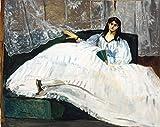 Berkin Arts Edouard Monet Giclée Leinwand Prints Gemälde Poster Reproduktion (Frau mit Fächer)