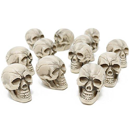 com-four 12x Calavera como decoración de Halloween - Calavera de...