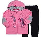 Be Mammy Conjunto Jersey y Pantalones Ropa Bebé Niña Unicorn 7302 (80, Rosa/Negro)