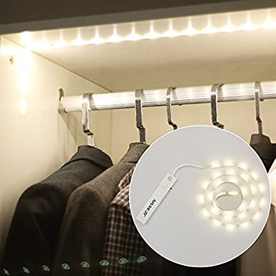JZBRAIN Wireless LED Strip Lights with PIR Motion Sensor Flexible for Cabinet, Closet, Drawer, Night Lighting 3.3ft produced by JZBRAIN - quick delivery from UK.
