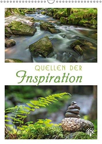 Quellen der Inspiration (Wandkalender 2019 DIN A3 hoch): Impulse, tiefsinnige Gedanken und großartige Naturmotive. (Monatskalender, 14 Seiten ) (CALVENDO Natur)