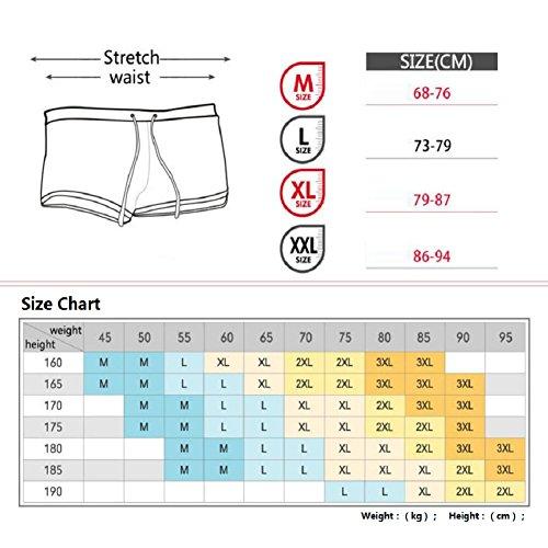 LJ&L Männer Casual Beach Shorts, Outdoor entspannte weiche bequeme atmungsaktive Body Shorts, Wassersport A