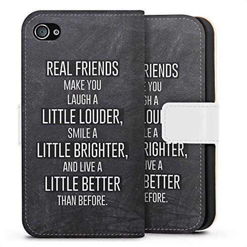 Apple iPhone X Silikon Hülle Case Schutzhülle Freunde Lachen Sprüche Sideflip Tasche weiß