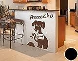 Wandtattoo Hunde-Fressecke B x H: 30cm x 45cm Farbe: schwarz von Klebefieber®