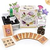 Koram Kit de jardin de kits de démarrage pour fleurs - 10 sachets de graines de fleurs biologiques pour l'automne à l'intérieur du kit de jardinage à l'intérieur