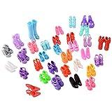 ASIV 60 Paia di Scarpe Accessori per Bambole Barbie Vari Colori Stile Casuale