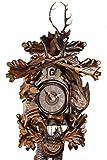 Original Schwarzwälder Kuckucksuhr aus Echtholz, mechanisches 8-Tage Laufwerk und VDS Zertifikat - Angebot von Uhren-Park Eble - Eble -Jagdstück 60cm- 46-22-12-80