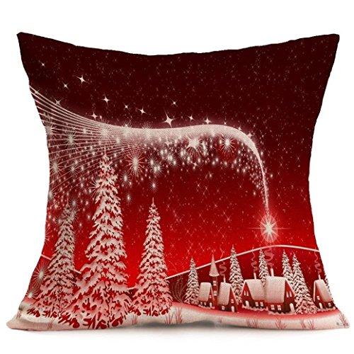 Fami Natale cuscino federe divano tiro copre decorazioni per la casa T