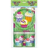 Copa Cake - Partido Set de 8 niños, incluyendo platos, vasos, servilletas, mantel.