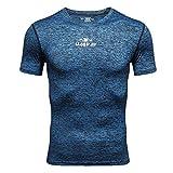 Amphia - Die elastische und schnell trocknende Kleidung der Männer trainiert das Laufen von Kurzarmhemden - Herren Fitness Training Kleidung Kurzarm Bluse Outdoor Sports Bluse